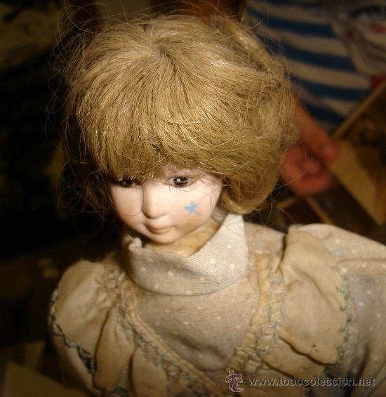 Muñecas Porcelana: ANTIGUA MUÑECA AUTÓMATA DE PORCELANA, 33 POR 15CM, VER VÍDEO - Foto 5 - 31992507