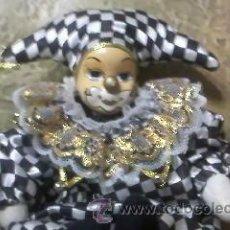 Muñecas Porcelana: MUÑECA ARLEQUIN DE PORCELANA.CUERPO DE RELLENO.. Lote 32183618