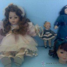 Muñecas Porcelana: LOTE MUÑECAS DE PORCELANA VARIADAS DE COLECCION .ROPAS ORIGINALES DE EPOCA.MAS REGALO.. Lote 27870389