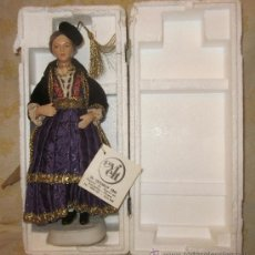 Muñecas Porcelana: MUÑECA DE PORCELANA,MADE IN GRECIA,CAJA ORIGINAL,AÑOS 80. Lote 32925748