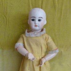 Muñecas Porcelana: ANTIGUA MUÑECA DE PORCELANA, CON CUERPO DE CARTON PIEDRA, MARCADA EN NUCA. Lote 33630127