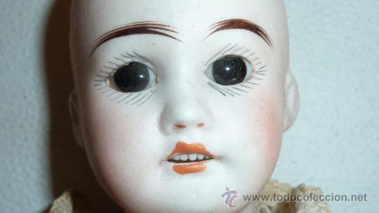 Muñecas Porcelana: Antigua muñeca de porcelana, con cuerpo de carton piedra, marcada en nuca - Foto 4 - 33630127