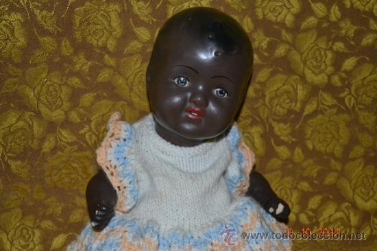 Muñecas Porcelana: RARO INUSUAL BEBE DE CARACTER NEGRO,CABEZA DE BISCUIT DE LA MARCA DURA - Foto 5 - 33983793