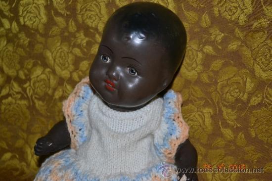 Muñecas Porcelana: RARO INUSUAL BEBE DE CARACTER NEGRO,CABEZA DE BISCUIT DE LA MARCA DURA - Foto 4 - 33983793