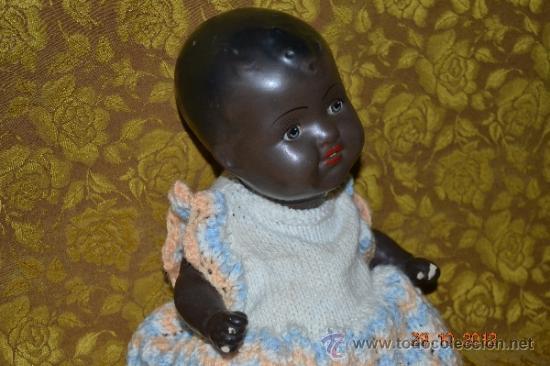 Muñecas Porcelana: RARO INUSUAL BEBE DE CARACTER NEGRO,CABEZA DE BISCUIT DE LA MARCA DURA - Foto 6 - 33983793
