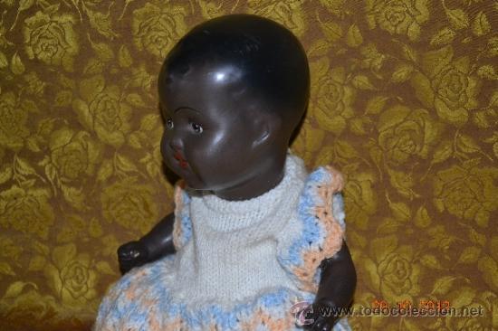 Muñecas Porcelana: RARO INUSUAL BEBE DE CARACTER NEGRO,CABEZA DE BISCUIT DE LA MARCA DURA - Foto 7 - 33983793