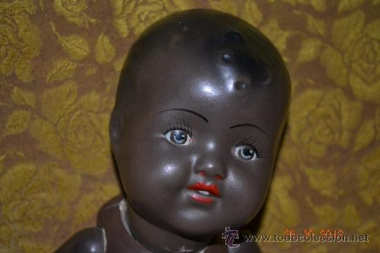 Muñecas Porcelana: RARO INUSUAL BEBE DE CARACTER NEGRO,CABEZA DE BISCUIT DE LA MARCA DURA - Foto 12 - 33983793