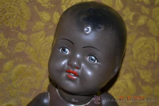 Muñecas Porcelana: RARO INUSUAL BEBE DE CARACTER NEGRO,CABEZA DE BISCUIT DE LA MARCA DURA - Foto 13 - 33983793