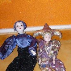 Muñecas Porcelana: LOTE PAYASO ARLEQUIN PORCELANA. Lote 34330087