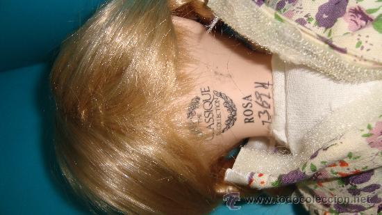 Muñecas Porcelana: PRECIOSA MUÑECA DE PORCELANA THE CLASSIQUE COLLECTION ROSA marcada y numerada - Foto 4 - 35073530