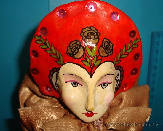 Muñecas Porcelana: MARIONETA DE MANO PORCELANA ESMALTADA SE MANTIENE EN PIE CON PEANA, - Foto 2 - 36099304