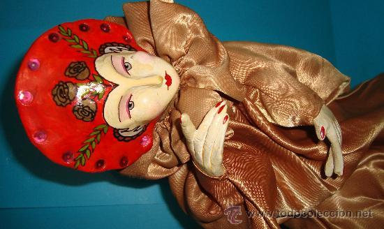 Muñecas Porcelana: MARIONETA DE MANO PORCELANA ESMALTADA SE MANTIENE EN PIE CON PEANA, - Foto 4 - 36099304