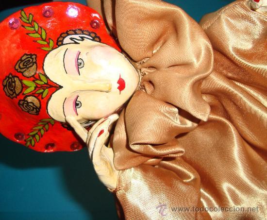 Muñecas Porcelana: MARIONETA DE MANO PORCELANA ESMALTADA SE MANTIENE EN PIE CON PEANA, - Foto 5 - 36099304