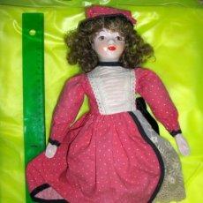Muñecas Porcelana: PRECIOSA MUÑECA DE LOS AÑOS OCHENTA, CARA MANOS Y PIES PORCELANA. SUS FOTOS. Lote 36656052