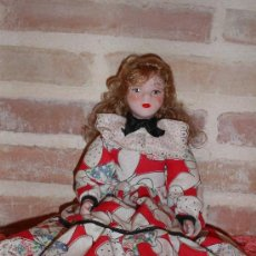 Muñecas Porcelana: ANTIGUA MUÑECA DE PORCELANA FANAS ARTESANOS. Lote 37641626