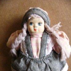 Muñecas Porcelana: MUÑECA DE TRAPO RELLENO CON LA CABEZA DE PORCELANA. Lote 37842706