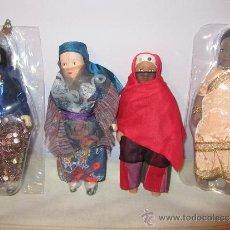 Muñecas Porcelana - 4 MUÑECAS DE PORCELANA, DE LA COLECCIÓN MUÑECAS DEL MUNDO, NUEVAS, HINDUS, ARABES... - 37901671