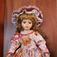 Muñecas Porcelana: PRECIOSA MUÑECA DE PORCELANA AÑOS 60 - 42 CM DE ALTURA. Lote 38456663