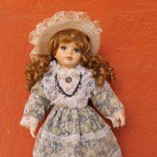 Muñecas Porcelana: PRECIOSA MUÑECA DE PORCELANA AÑOS 60 - TIENE UNA NUMERACION- 40 CM DE ALTURA. Lote 38456884