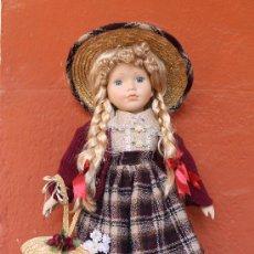 Muñecas Porcelana: MUÑECA DE PORCELANA AÑOS 60 – 55 CM DE ALTURA. Lote 38457016