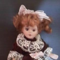 Muñecas Porcelana: PRECIOSA MUÑECA DE PORCELANA PELIRROJA, 20 CM . Lote 39094693