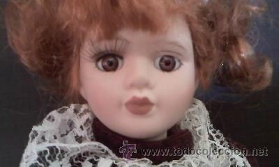 Muñecas Porcelana: Preciosa muñeca de porcelana pelirroja, 20 cm - Foto 2 - 39094693