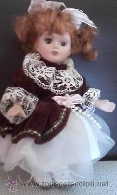 Muñecas Porcelana: Preciosa muñeca de porcelana pelirroja, 20 cm - Foto 3 - 39094693