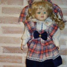 Muñecas Porcelana: VINTAGE MUÑECA DE PORCELANA.ROPA ORIGINAL. Lote 39842561