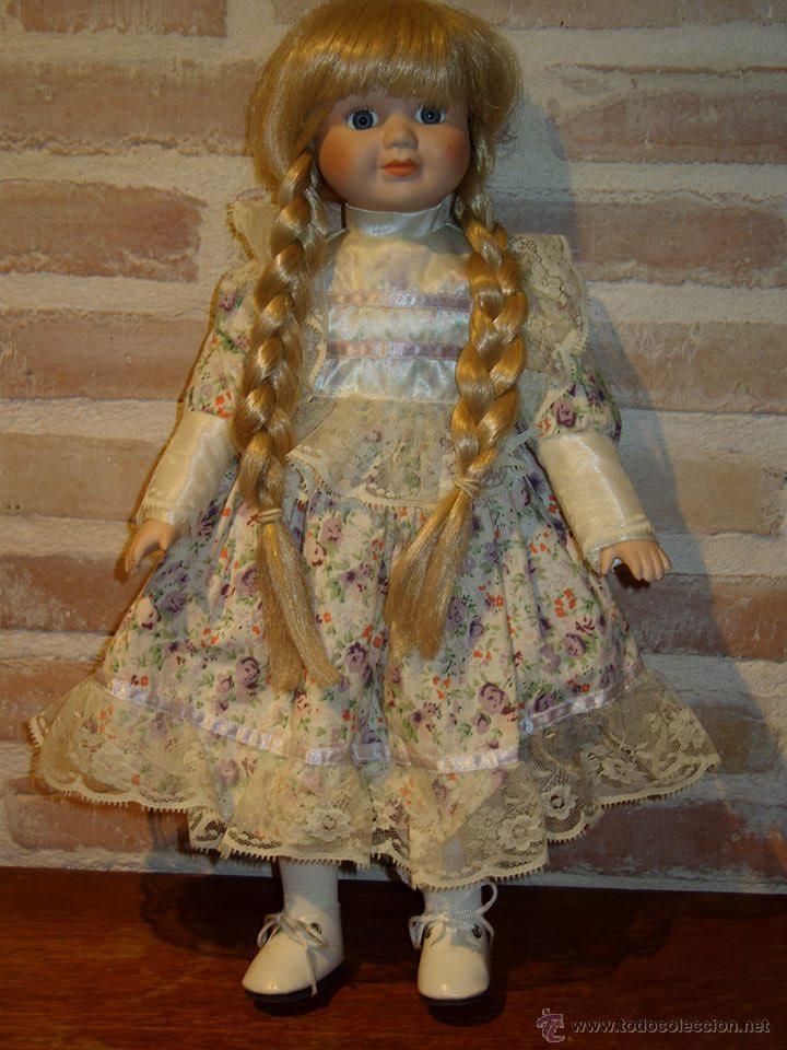 Muñecas Porcelana: VINTAGE MUÑECA DE PORCELANA SELLADA - Foto 3 - 39908738
