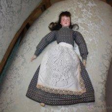 Muñecas Porcelana: PRECIOSA MUÑECA DE PORCELANA MIDE 45X8 . Lote 39952901