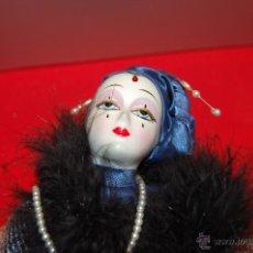 Muñecas Porcelana: PIERROT DE PORCELANA Y CUERPO DE RELLENO.. Lote 40063076