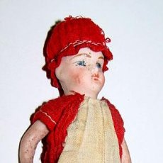 Muñecas Porcelana: MUÑECA DE CABEZA Y CUERPO DE PORCELANA ALEMANIA 1900, SIRVE PARA CASA DE MUÑECAS ROPA DE ORIGEN.. Lote 38238726