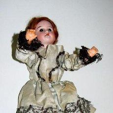 Muñecas Porcelana: ANTIGUO E INTERESANTE PIEZA, CONSTA DE UNA MUÑECA ALEMANA DE 1900 PROCEDENTE DE AUTOMATA, CABEZA DE . Lote 38238730