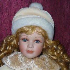 Muñecas Porcelana: MUÑECA DE COLECCION RUSS BERRIE, 50 CMS. SELLADA Y NUMERADA.. Lote 40574059