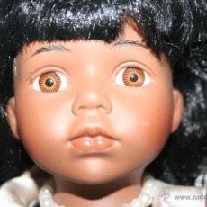 Muñecas Porcelana: MUÑECA PORCELANA NEGRITA NEGRA. Lote 40634933