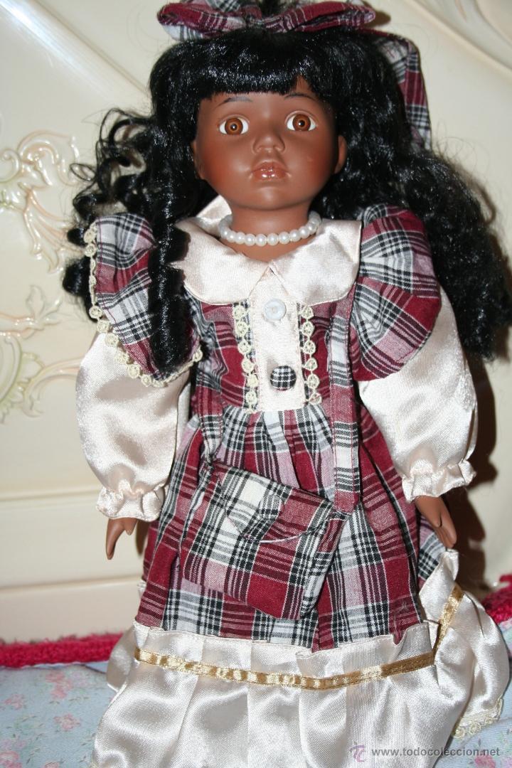 Muñecas Porcelana: muñeca porcelana negrita negra - Foto 3 - 40634933