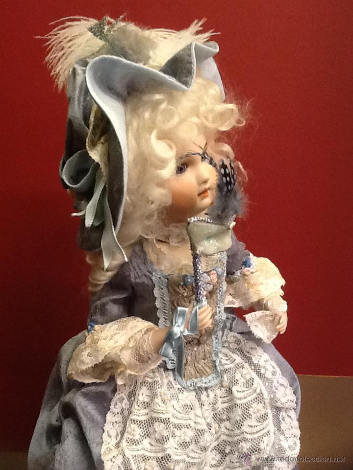 Muñecas Porcelana: Muñeca de porcelana autómata con ojos de cristal de época. En . - Foto 4 - 40739777