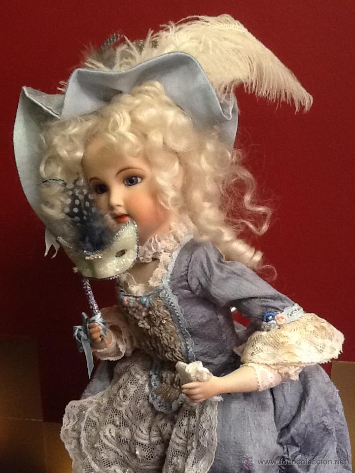 Muñecas Porcelana: Muñeca de porcelana autómata con ojos de cristal de época. En . - Foto 5 - 40739777