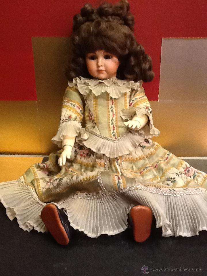 Muñecas Porcelana: Muñeca articulada de porcelana y ojos de cristal. - Foto 2 - 40739830