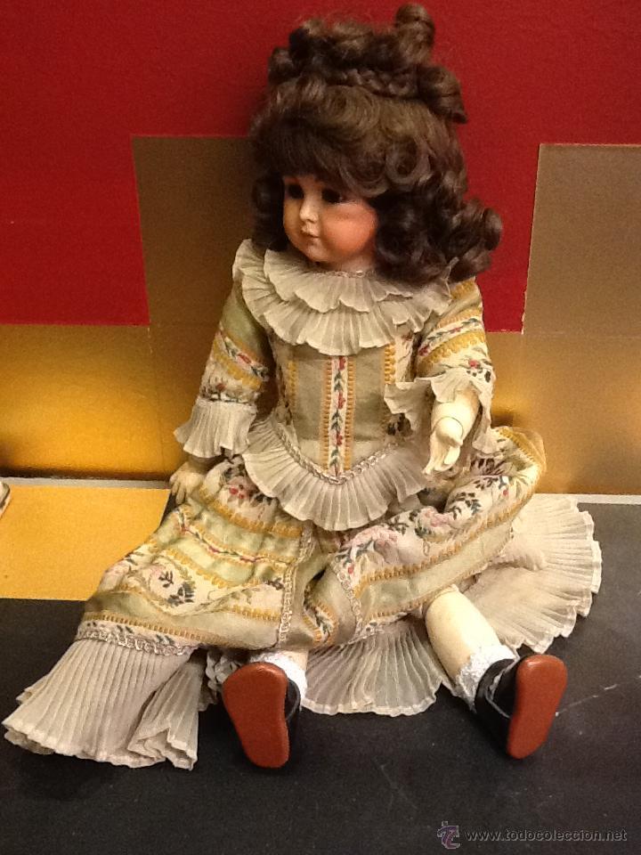 Muñecas Porcelana: Muñeca articulada de porcelana y ojos de cristal. - Foto 3 - 40739830