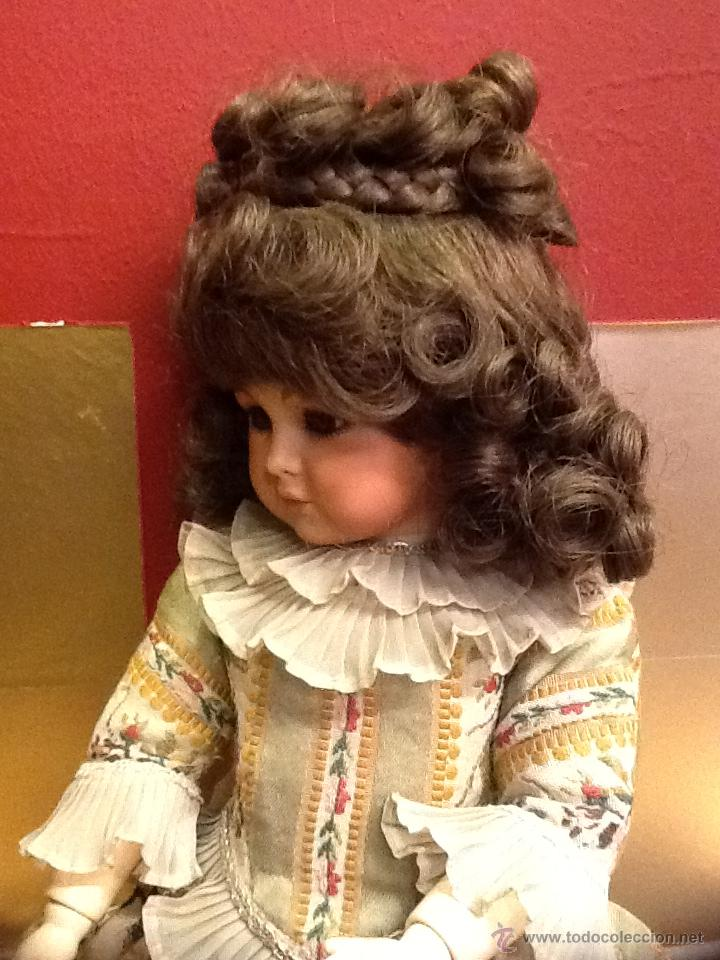 Muñecas Porcelana: Muñeca articulada de porcelana y ojos de cristal. - Foto 5 - 40739830