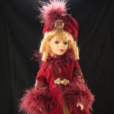 Muñecas Porcelana: MUÑECA PORCELANA DANDEE COLECTOR CHOICE, PEANA METALICA 44CM. Lote 40903109