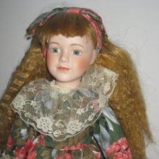 Muñecas Porcelana: MUÑECA DE PORCELANA DE LOS AÑOS 70 - CABEZA BRAZOS Y PIERNAS DE PORCELANA, EL CUERPO ES DE LIENZO R. Lote 41581102
