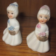 Muñecas Porcelana: PAR DE MUÑECAS DE BISCUIT,MADE IN KOREA. Lote 41609725