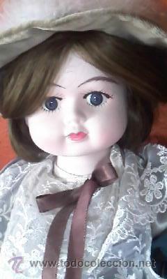 Muñecas Porcelana: Antigua muñeca de porcelana Victoriana . Primera mitad siglo XX. CHICO. - Foto 2 - 42006737