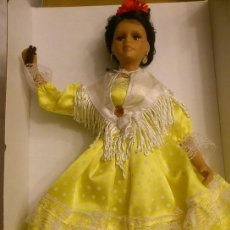 Muñecas Porcelana: MUÑECA FLAMENCA DE PORCELANA , COLECCION MUÑECAS REGIONALES ESPAÑOLAS 40 CMS. Lote 42350731