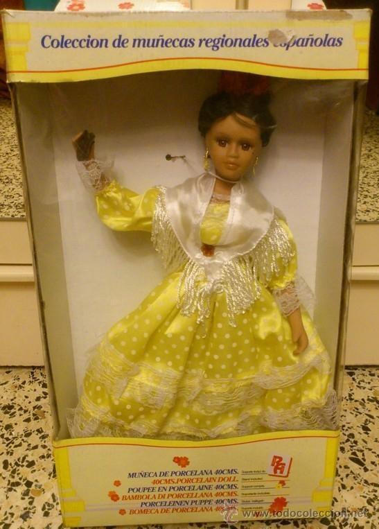 Muñecas Porcelana: MUÑECA FLAMENCA DE PORCELANA , COLECCION MUÑECAS REGIONALES ESPAÑOLAS 40 CMS - Foto 4 - 42350731