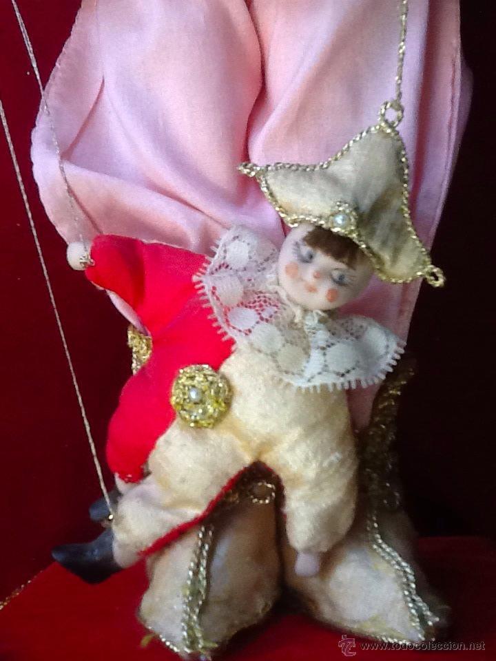 Muñecas Porcelana: Muñeca arlequín de porcelana automata con música en . Siglo XX. - Foto 6 - 40718035