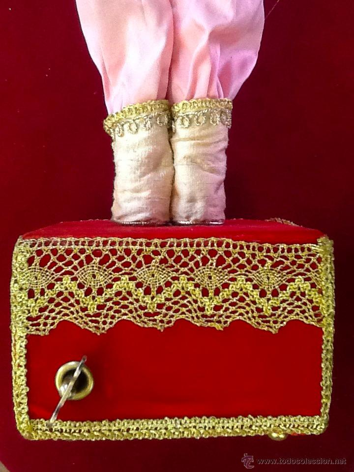Muñecas Porcelana: Muñeca arlequín de porcelana automata con música en . Siglo XX. - Foto 7 - 40718035