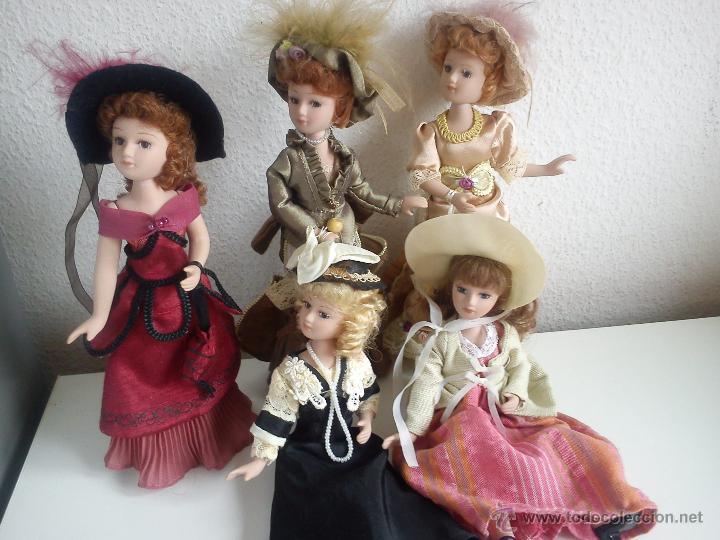 Muñecas Porcelana: ANTIGUA Y MUY PRECIOSA COLECION DE 5 MONECAS DE PORCELANA ARTICULADAS LAS ROPAS ORIGINALES ANOS 40, - Foto 2 - 42781389